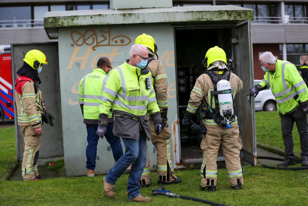 3500 Woningen zonder stroom na brand in trafohuisje