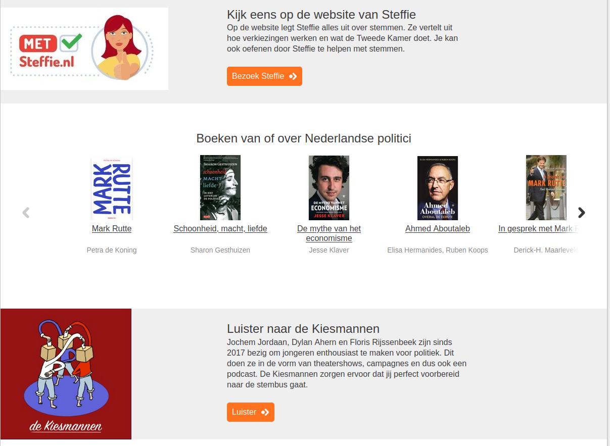 Bibliotheek komt met internetpagina over verkiezingen