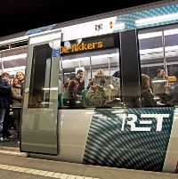 Metroverkeer in Schiedam ligt plat