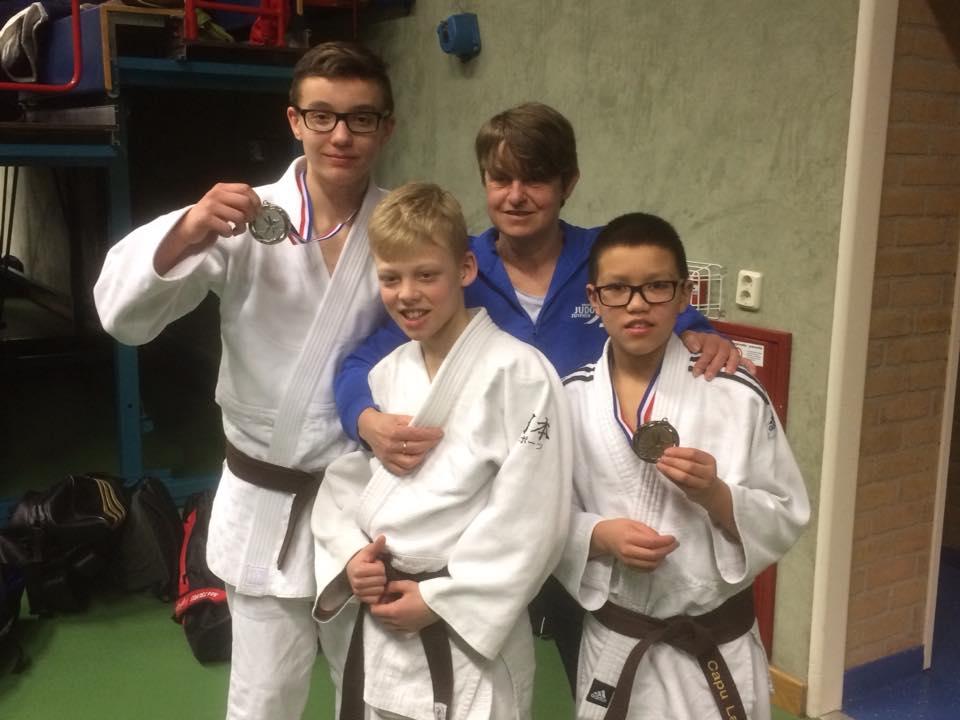 Judoka's Judo Zutphen plaatsen zich voor NK