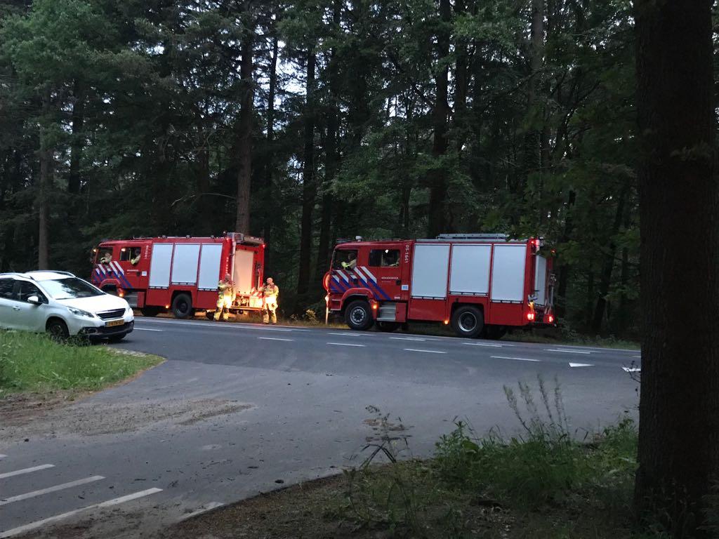Brandweer zoekt ingang naar heidebrand
