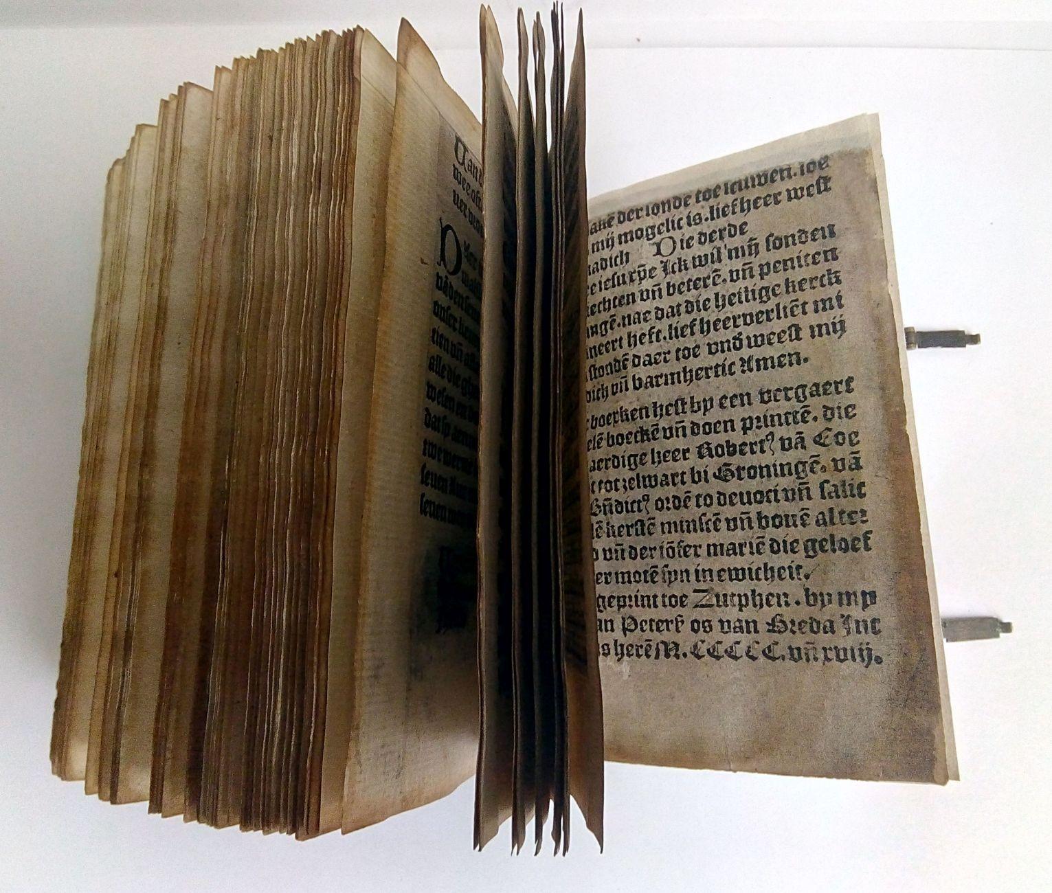 500 jaar oude Zutphense boekdrukkunst