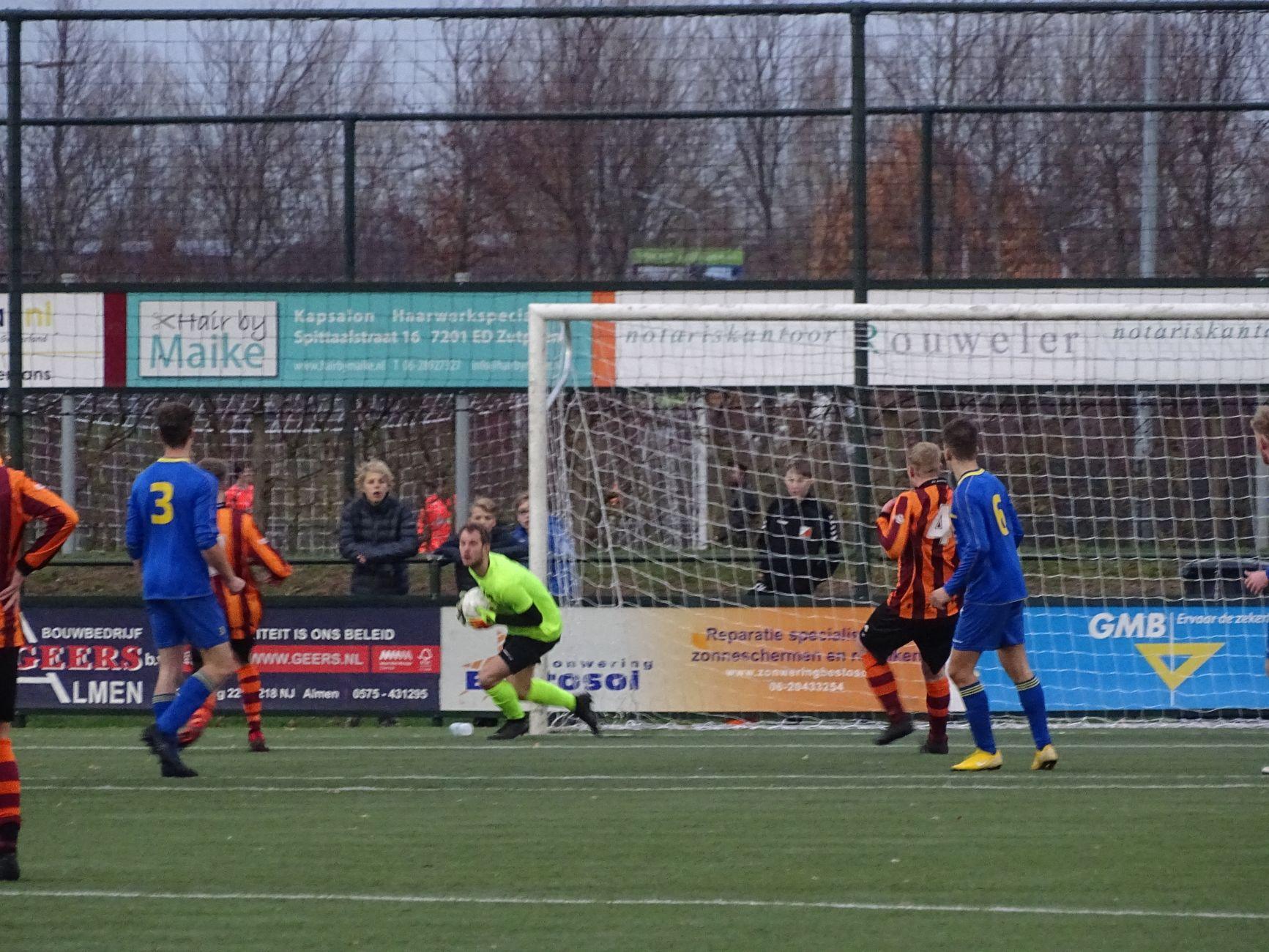 FC Zutphen (zat.) geeft de zege diep in blessuretijd weg, 3-3 tegen den Ham