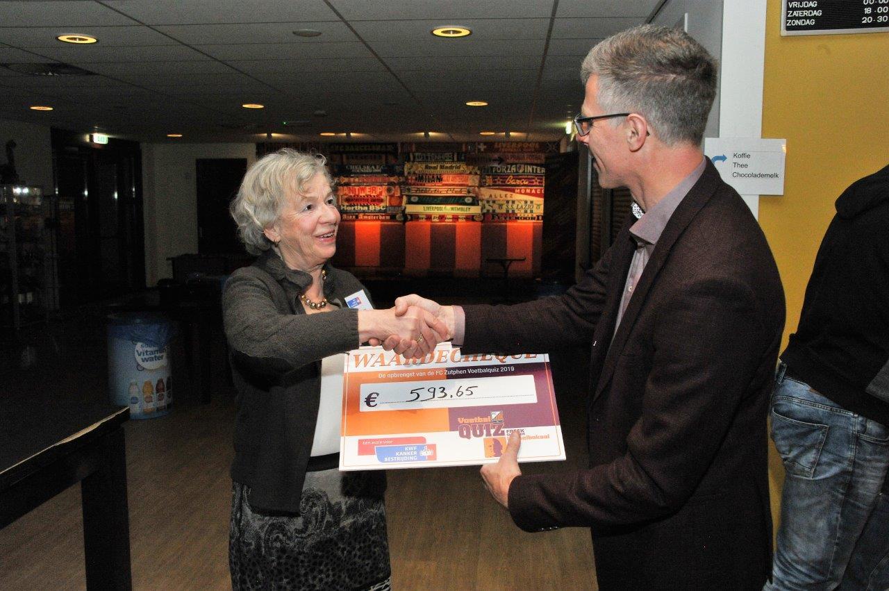 FC Zutphen doneert recordbedrag aan het KWF