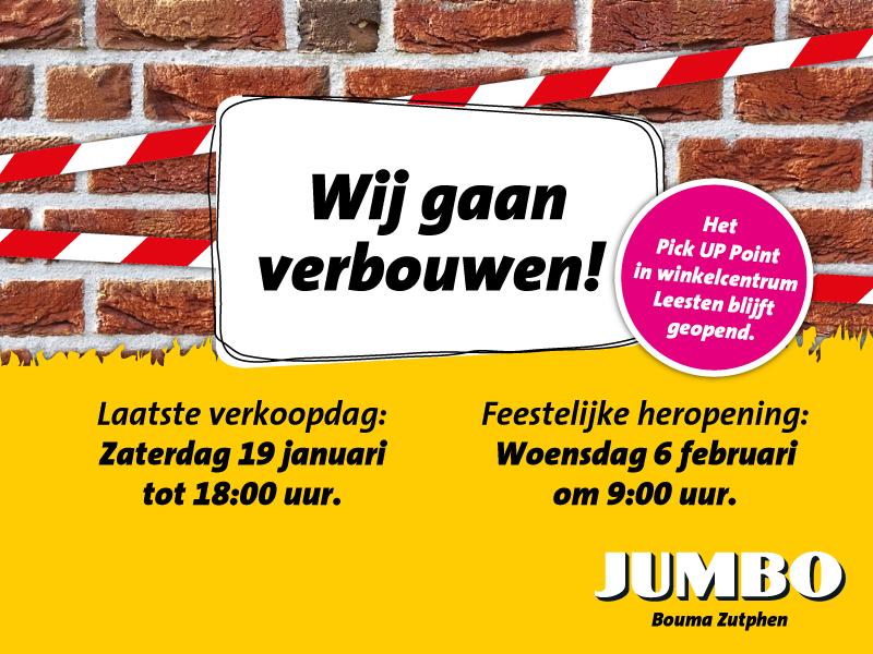 Jumbo Leesten vanaf zaterdagavond gesloten