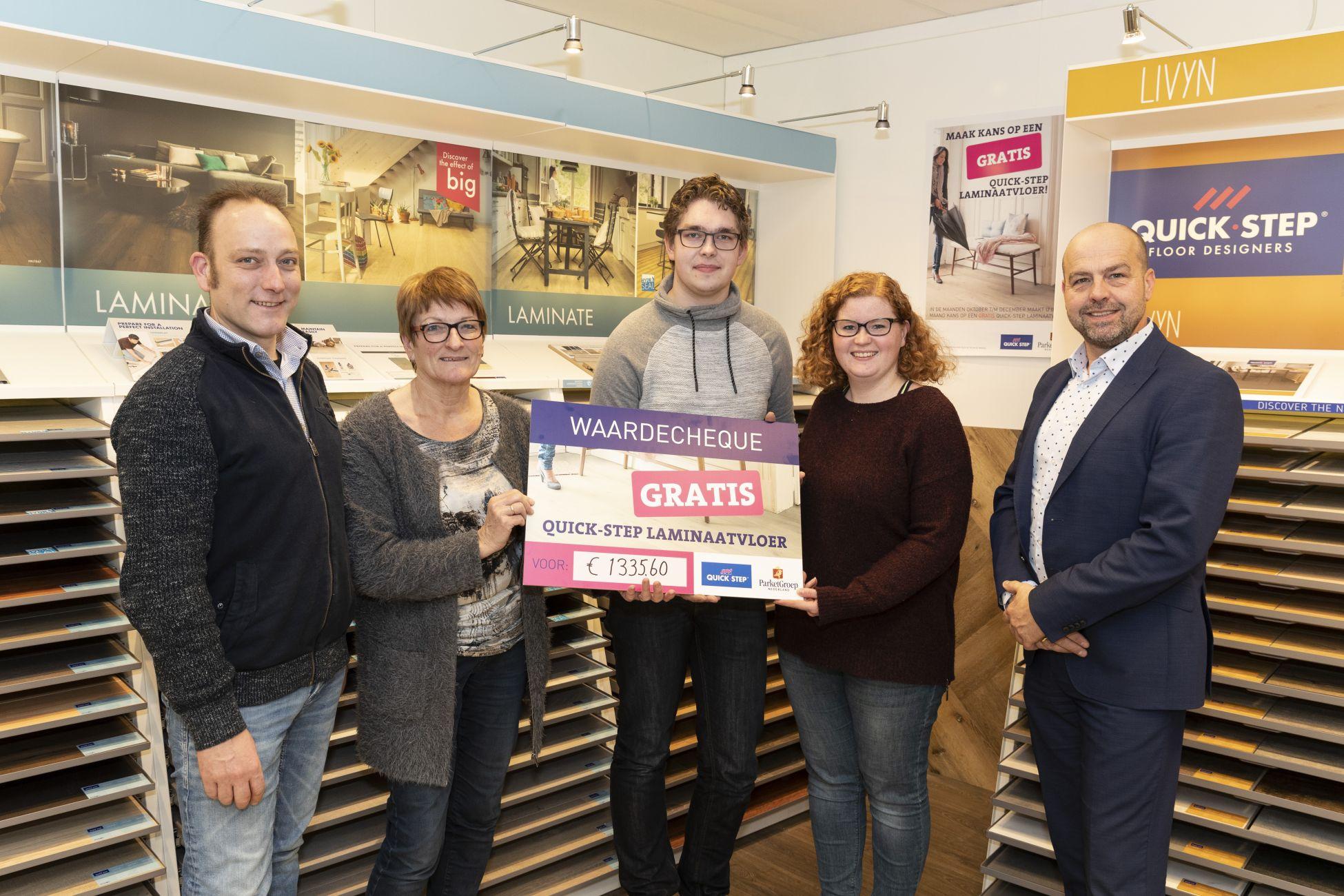 Zutphense familie Beerman wint laminaatvloer