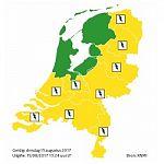 Code geel: onweersbuien en neerslag