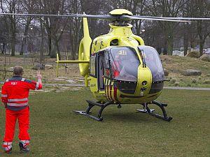 Inzet traumahelikopter trekt veel bekijks