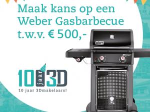 Win een gas bbq bij 3D Makelaars!
