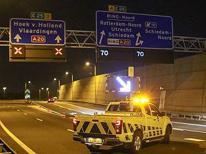 Weg tijdelijk afgesloten na ongeval
