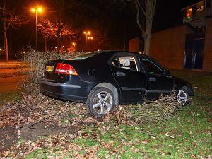 Auto total loss na ongeval Churchillsingel