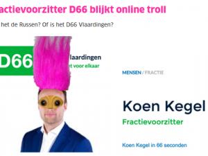 Trollende fractievoorzitter D66 landelijk nieuws
