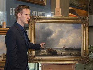 Vier schilderijen van Arij Pleijsier