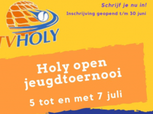 Doe mee met het Holy Open jeugdtoernooi