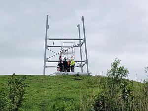 Bouw nieuwe uitkijktoren Broekpolder vordert