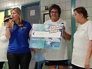 Zwemmarathon de Kulk haalt € 8.000 op voor Make a Wish