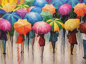 De zomer in je bol met een kleurrijk schilderij!