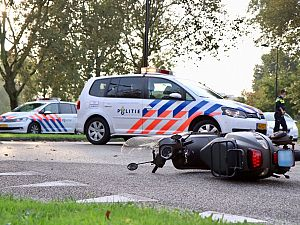 Scooterrijder aangereden op de Reigerlaan