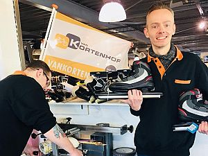 Laat je schaatsen slijpen bij Van Kortenhof