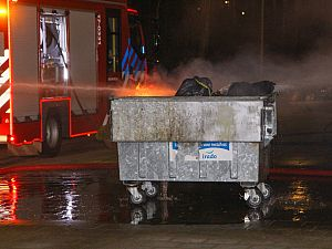 Flat vol rook door containerbrand