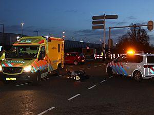 Motorrijder gewond na aanrijding Heusdenslaan