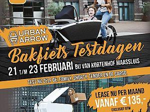 Urban Arrow Bakfietstestdagen bij Van Kortenhof Maassluis