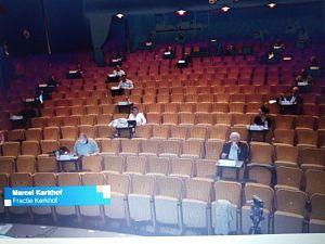 Politiek theater in Stadsgehoorzaal