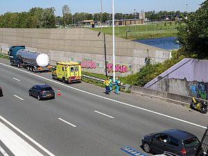 Motorrijder gewond bij aanrijding A4
