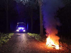 Gestripte scooter uitgebrand