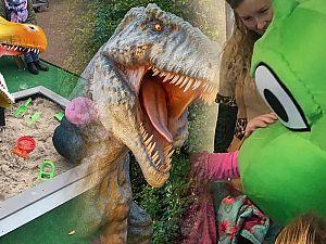 Dinosauriërs nemen het Liesveld over