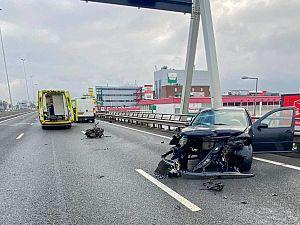 A20 geheel afgesloten na ongeval