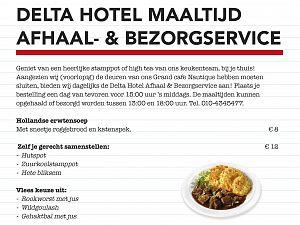 Afhaal- en bezorgservice van het Delta Hotel