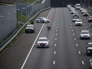 Gestolen Franse auto klemgereden op A4