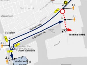 Opvang voor gestrande Brexit-truckers in Vlaardingen