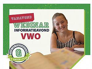 Online voorlichtingsavond havo/vwo en vwo 't Groen
