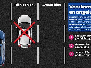 Verkeerspolitie gaat bekeuren op onnodig links rijden