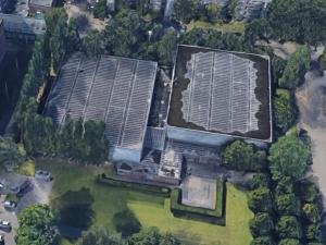 Tijdelijke testlocatie in sporthal Westwijk