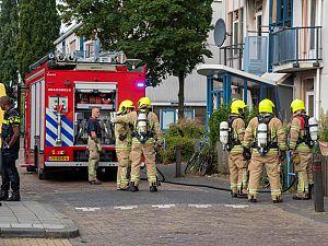 Brand op balkon Van Limburg Stirumstraat