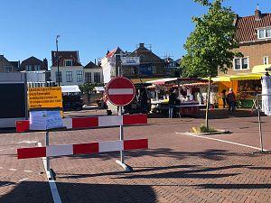 Vrijdagmarkt voor het eerst open op het Marelplein