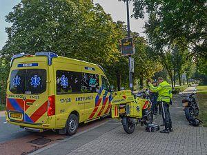 Motorrijder en automobilist in botsing op Prinses Julianalaan