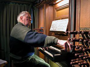 Kerkorganist André Verwoerd componeerde ook psalmen