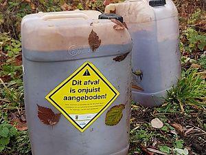 Chemisch afval aangetroffen