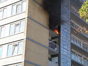 Middelbrand in Nolenslaan