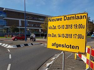 Nieuwe Damlaan afgesloten