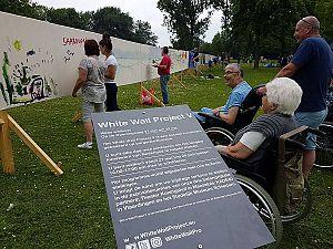 Doeken uit het Beatrixpark nu in het museum