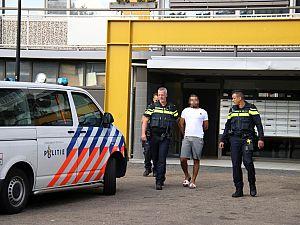 Arrestatie op Bachplein