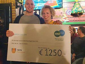 Vlaardingse pubquiz brengt € 1.250 op voor Yets Foundation