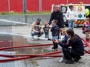 Veel belangstelling voor brandweer