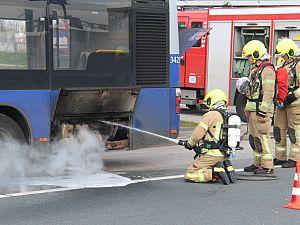Motorbrand in RET-bus