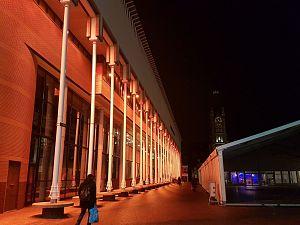 Stadskantoor in het licht